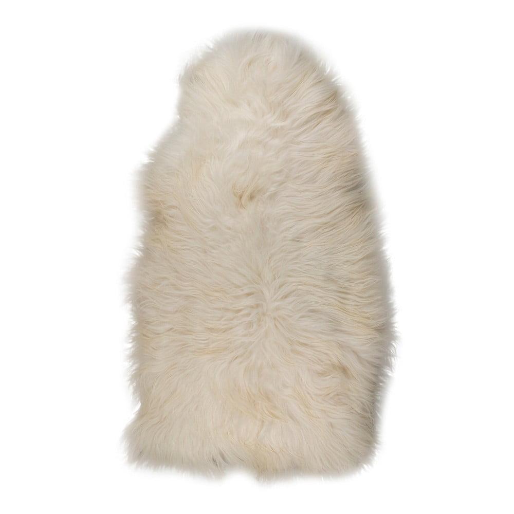 Bílá XXXL ovčí kožešina s drsným chlupem, 130 x 70 cm