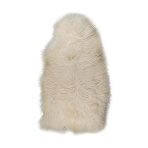 Bílá XXXL ovčí kožešina s drsným chlupem, 130x70cm