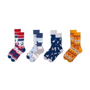 Sada 4 párů ponožek v dárkovém balení Many Mornings Buddies, vel. 43–46
