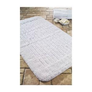 Koupelnová předložka Cotton Stripe White, 60x100 cm