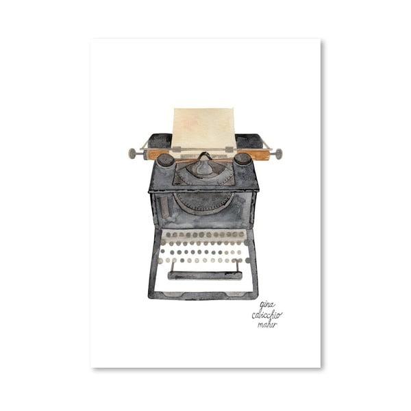 Autorský plakát Typewriter, 30x42 cm