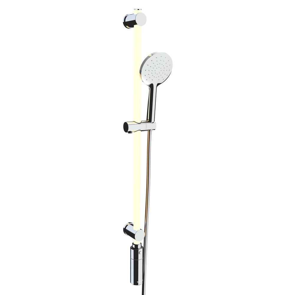 Světelný LED panel do sprchy sesprchovou hlavicí Wenko RGB, délka 95cm