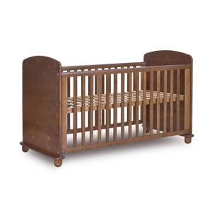 Pătuț pentru copii din lemn de pin Faktum Tomi, 70 x 140 cm, nuanță închisă
