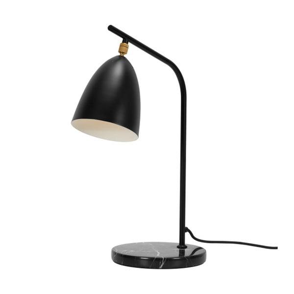 Černá stolní lampa s mramorovou základnou Garageeight Mel