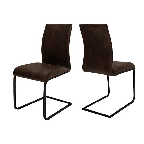 Tmavě hnědá jídelní židle Canett Clipper John