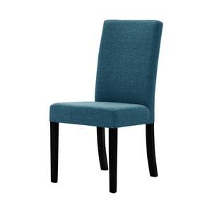 Tyrkysová židle s černými nohami z bukového dřeva Ted Lapidus Maison Tonka