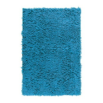 Covor baie Wenko Chenille, 80x50cm, albastru
