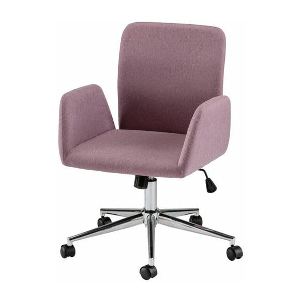 Růžová kancelářská židle na kolečkách s područkami Støraa Bendy