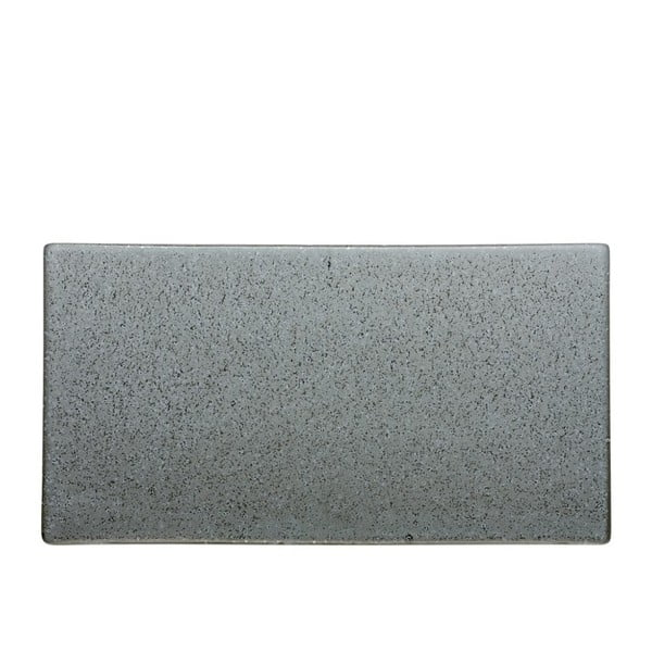 Sivý kameninový servírovací podnos Bitz Mensa, dĺžka 30 cm