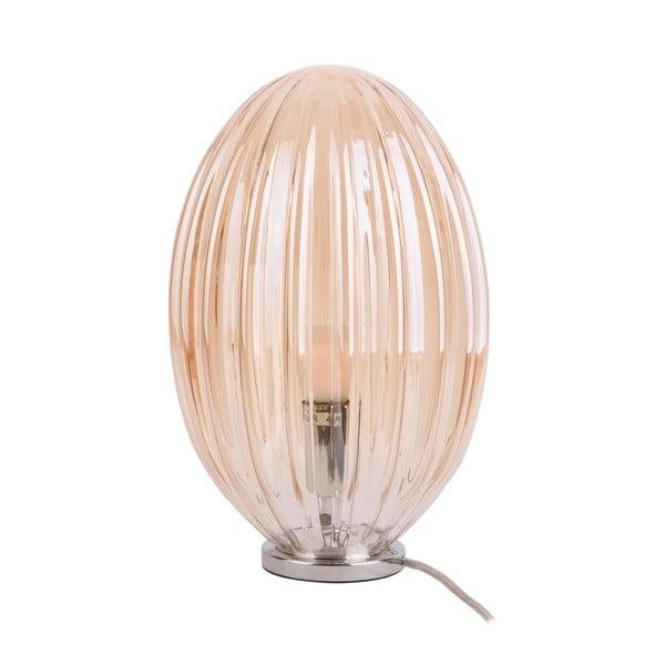 Hnědá stolní lampa Leitmotiv Smart, výška31cm