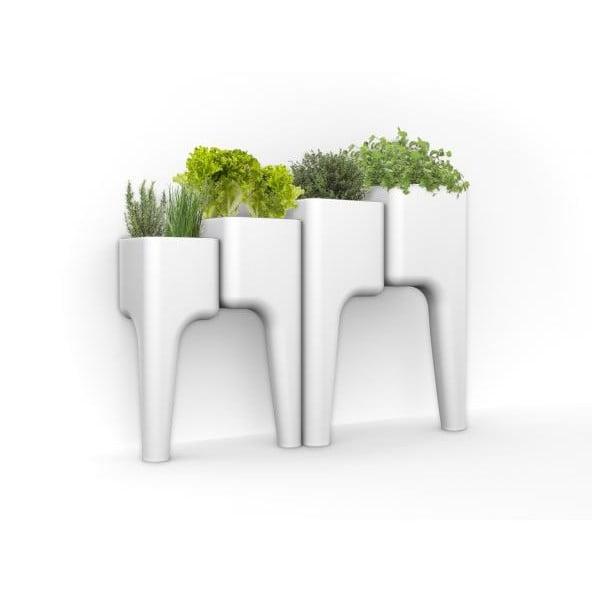 Designový květináč KIGA XL 104x80 cm, bílý