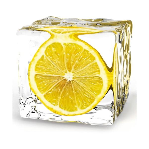 Skleněný obraz Iced Lemon, 20x20 cm