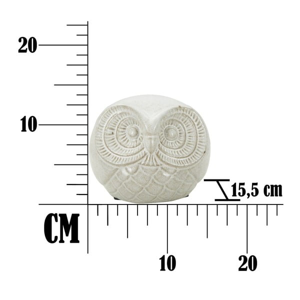 Dekorativní soška ve tvaru sovy Mauro Ferretti, Ø 15,5 x 12,5 cm
