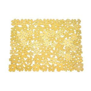 Žlutá podložka do dřezu InterDesign Blumz, 32x40,5cm