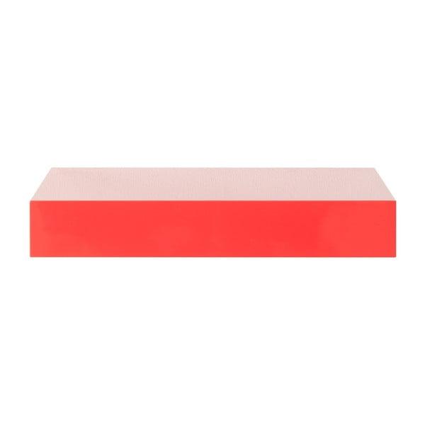 Červená nástěnná polička Intertrade Shelvy, délka23,5cm