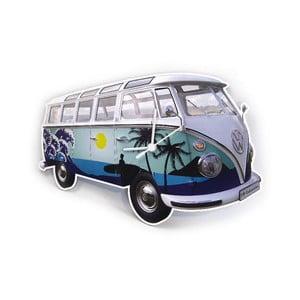 Nástěnné hodiny VW Camper, modré