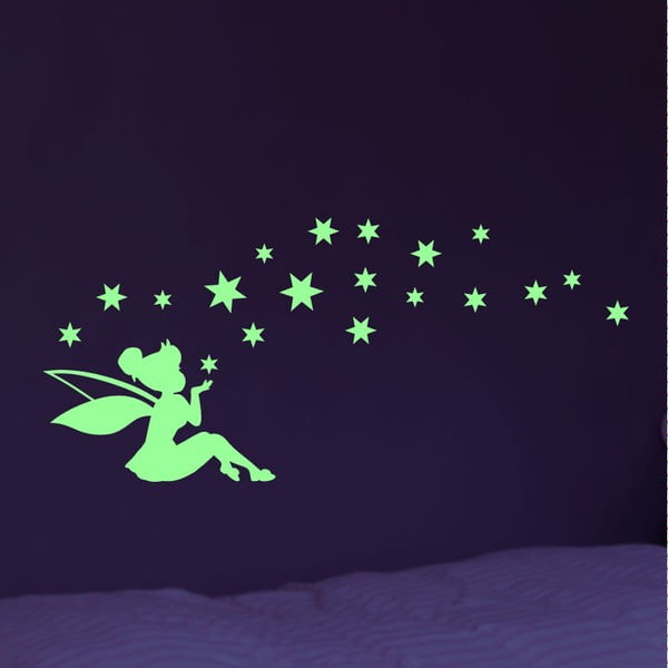 Autocolant fosforescent Ambiance Fairy And The Stars
