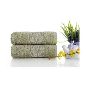 Sada 2ks ručníků Bamboo Glory Green, 50x90 cm