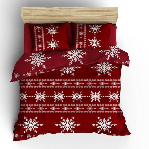 Povlečení s prostěradlem Red Snow, 200x220 cm
