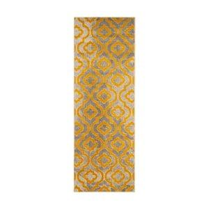 Žlutý běhoun Webtappeti Evergreen,70x275cm