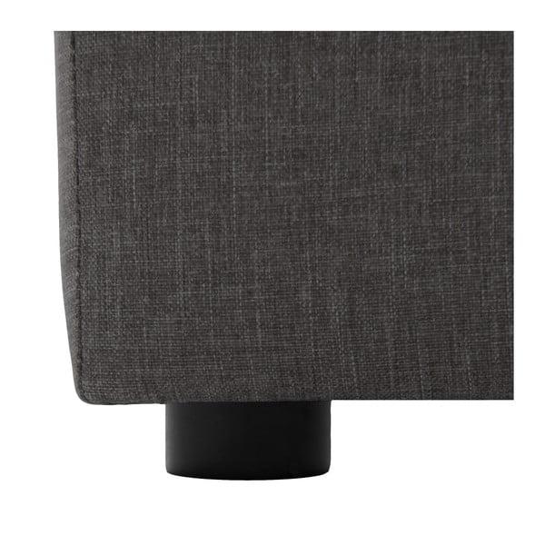 Světle šedá třímístná modulová pohovka s podnožkou Vivonita Cube