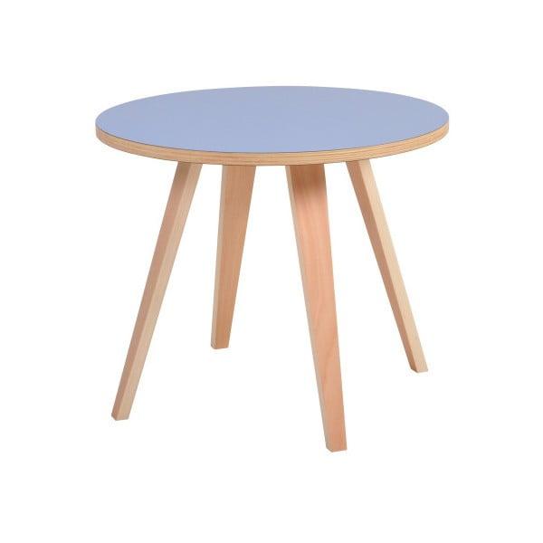 Modrý kulatý konferenční stolek Garageeight Arvika, ⌀54cm