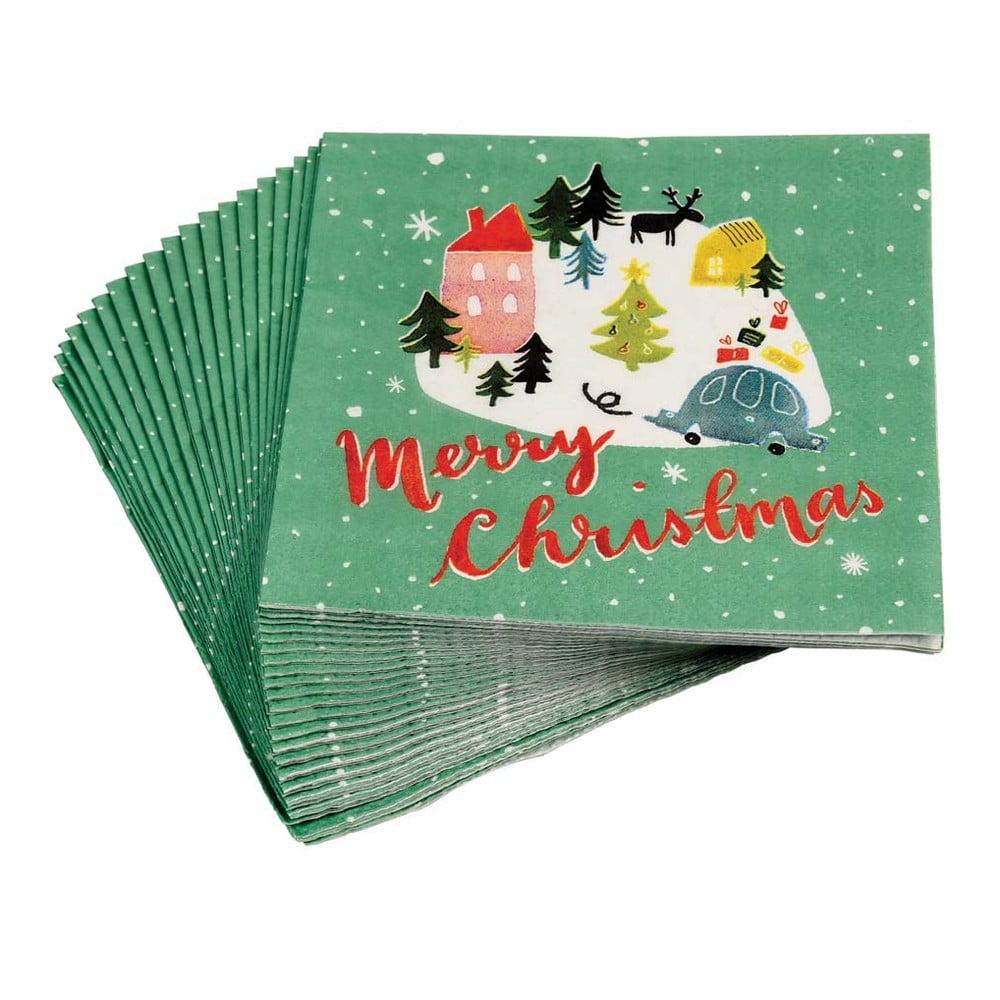 Sada 20 vánočních ubrousků Rex London Christmas Wonderland