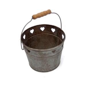 Găleată metalică Antic Line, mâner de lemn