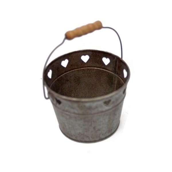 Kovový kyblík s dřevěnou rukojetí Antic Line