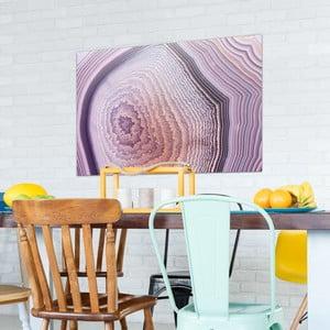 Skleněný obraz OrangeWallz Gemstone Purple, 76 x 114 cm