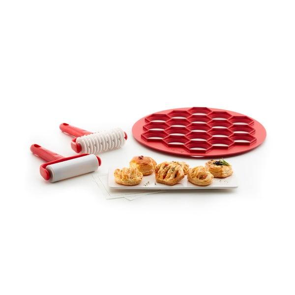 Komplet akcesoriów do przygotowania tarty Lékué Pies, ⌀ 30 cm