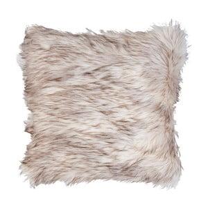 Hnědo-bílý povlak na polštář Clayre & Eef Fur