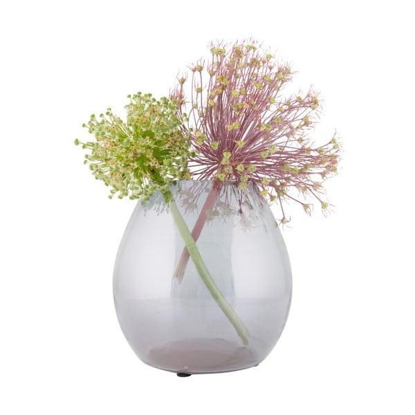 Vază din sticlă BePureHome Simple, ⌀ 20 cm, gri deschis