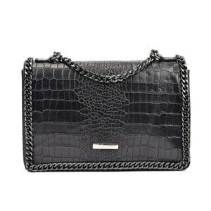 Černá kožená kabelka Carla Ferreri Kamullo