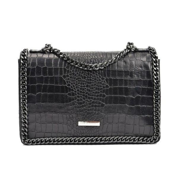 Čierna kožená kabelka Carla Ferreri Kamullo