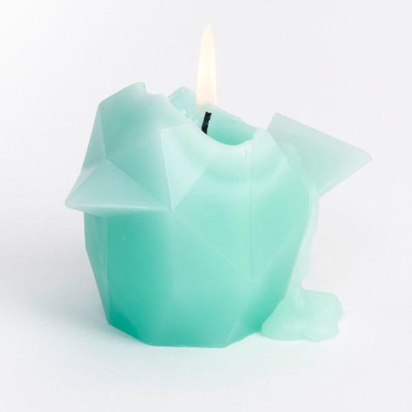 Mentolově zelená svíčka Pyropet Bíbí