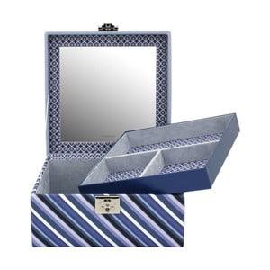 Modrá šperkovnice Friedrich Lederwaren Diagona, 23x23cm