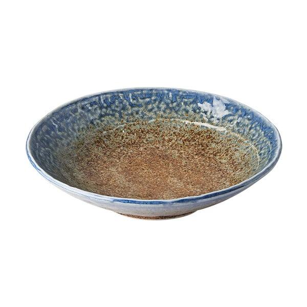Beżowo-niebieski głęboki talerz ceramiczny MIJ Earth & Sky, ø 24 cm