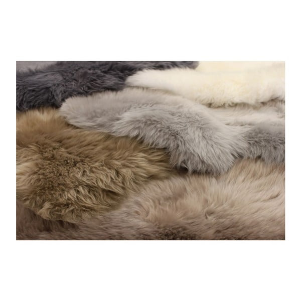 Koberec Single Sheepskin Mink, 100x100 cm