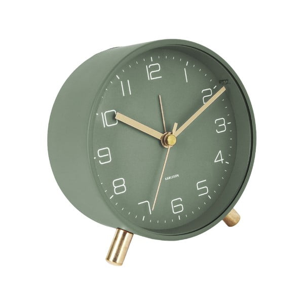 Ceas cu alarmă Karlsson Lofty,ø11cm, verde