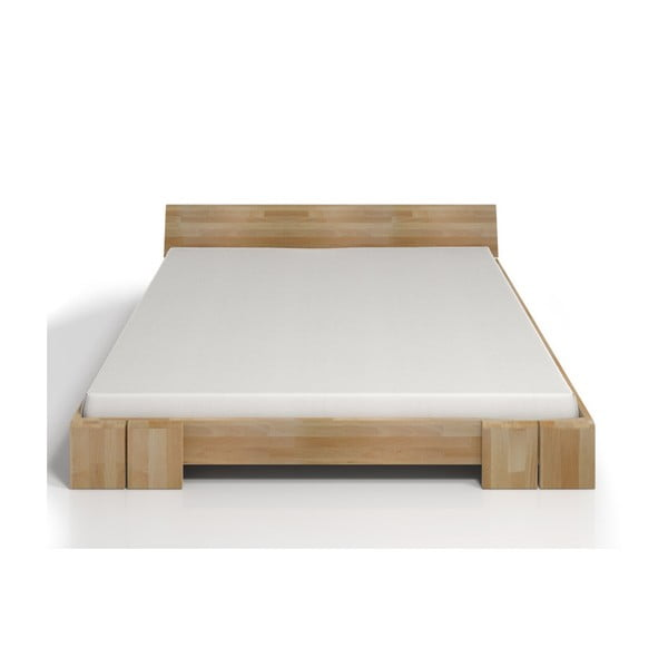Pat dublu din lemn de fag SKANDICA Vestre, 200 x 200 cm