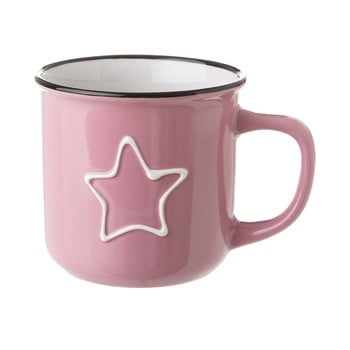 Cană din ceramică Unimasa Star, 325 ml, roz