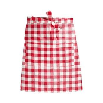Șorț textil Linen Couture Delantal de Lino Red Vichy imagine