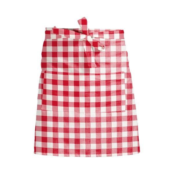Fartuch kuchenny Linen Couture Delantal de Lino Red Vichy