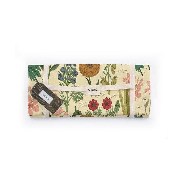 Koc piknikowy Surdic Manta Picnic Botanical z motywem roślin, 140x170 cm