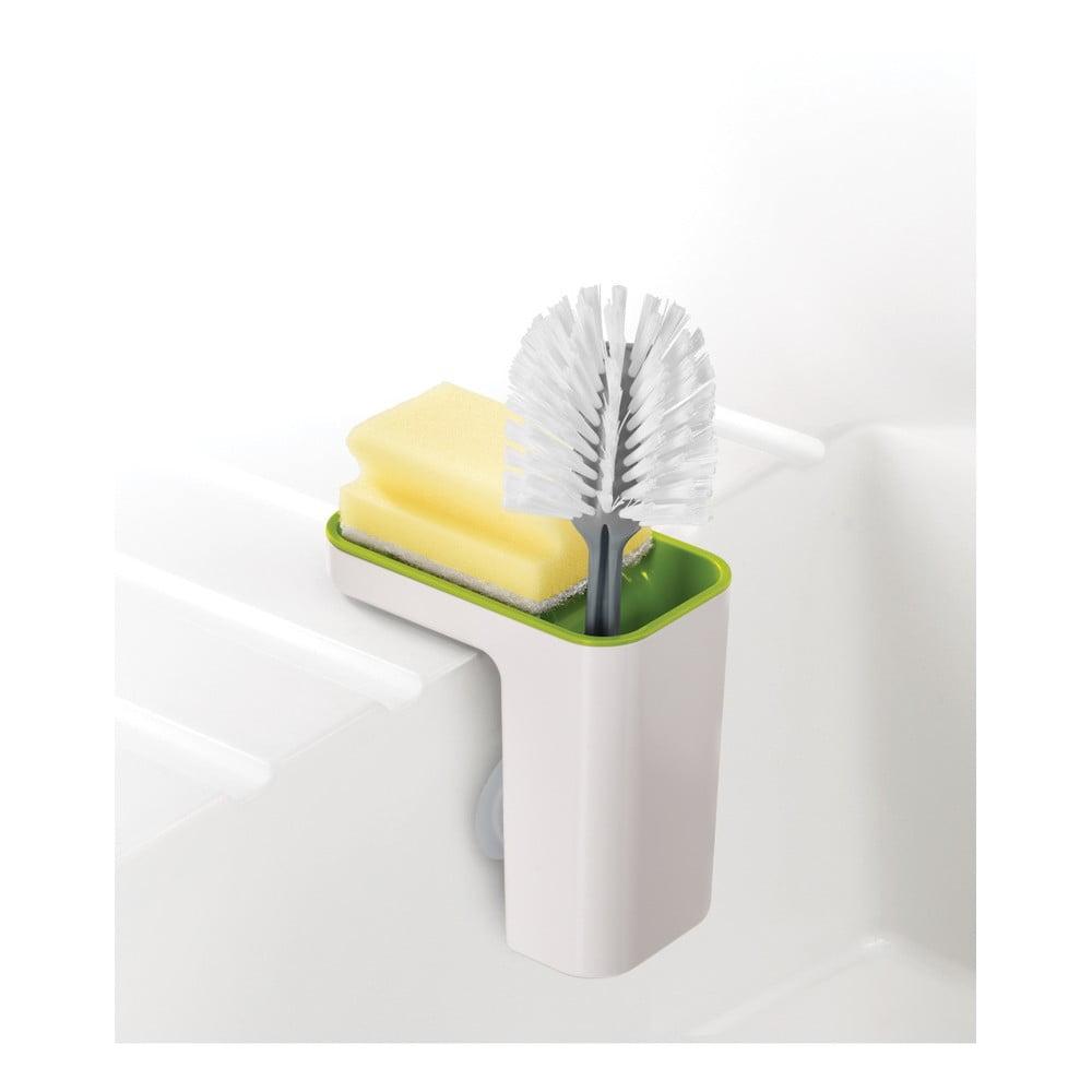 Bílo-zelený stojánek na mycí prostředky Joseph Joseph Caddy SinkPod