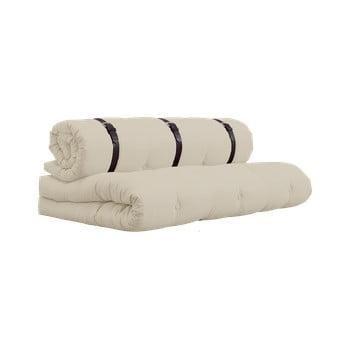 Canapea extensibilă cu detalii din piele Karup Buckle Up Beige