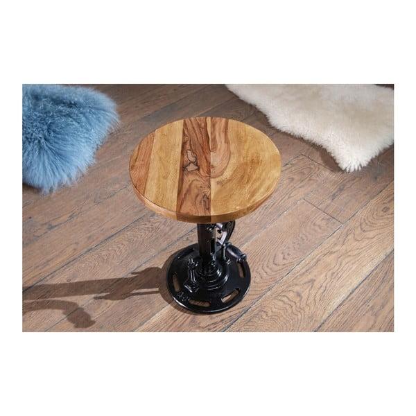 Stolička z masivního palisandrového dřeva Skyport Wohnling Rack, výška 40 cm