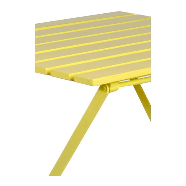 Odkládací stolek Industry Yellow, 60x60x74 cm