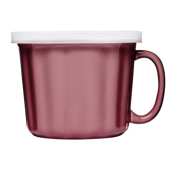 Růžový hrnek na polévku Sagaform, 500ml